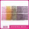 2012 hot sale colorful round pearl sticker