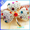 Drilling hot clover Crystal brooch corsage wholesale vintage brooches