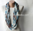 Fashion ladies' Special Multicolored Crochet round scarf