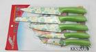 5pcs non-stick color knifes set kitchen