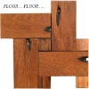 Natural fancy wood floor tiles