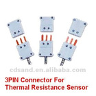 3 PIN connector for thermal resistance sensor