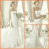Free Shipping New Satin Long sleeve Lace Fishtail Wedding Dresses 2012 JYWD0569