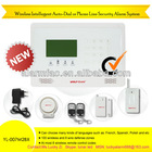 Quadband gsm wireless alarm control system with LCD display and Touch keypad(YL007newM2BX)
