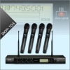 Professional 4 Channel UHF Wireless Microphone System