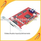 4 CH real-time security dvr card/h.264 dvr board