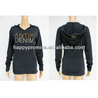 Lady's stretched hoody & O-neck ls & ss shirt stocks
