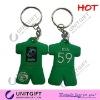 Football Team T-shirt rubber keychain