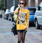 2013 European casual 100% cotton O-Neck long sleeve fashion t shirt