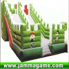 2012 large outdoor inflatable castle,inflatable house with slide