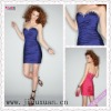 1379-1hs Sexy Corset Sweetheart Beaded Taffeta Purple Cocktail Dress, Party Dress