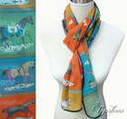 2012 new design fashion horse print autumn scarves