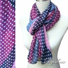 New arrived fall ladies polyester printed scarves 2012