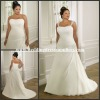 Al-w3838 Gorgeous A-line Chiffon Bridal Dress with Changing Shoulders