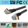 90 degree hdmi cable double color support ethernet 3D 1080P ethernet tested FCC CE RoHS