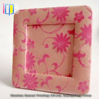 Popular pink flocking fabric photo frame for picture