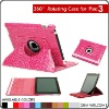 360 degree rotated/swivel leather case for iPad 3