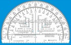 6 inches Half Moon Military Protractor #KMP-1