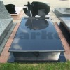 Shanxi black granite grave monument
