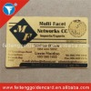 standard approval custom metal business card