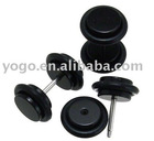 Body jewelry / Black Cheater Ear Plug