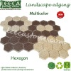 Multicolor hexagon paver interlocking stone paving