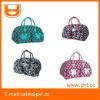 Dot Floral Carry On Luggage Overnight Duffel Bag
