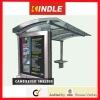 Cantilever Stainless Steel bus station freestanding/flush bonding