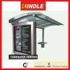 Cantilever Stainless Steel bus station freestanding/flush bonding