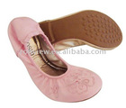Lady fashion roll up ballerina shoes