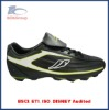 black lace up soccer shoes indoor tpr outdoor