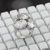 platinum zirconia ring jewelery