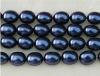 16-20mm egg shaped dark blue shell pearls strands