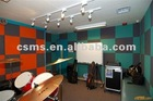 Nonwoven acoustic decorative wall panel