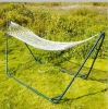 Nylon hammock with wooden end