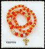 3rows glass bead stretch bracelet F22270-8