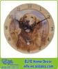 antique wooden dog wall clock