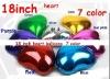 "Solid Plain foil balloons , Assorted Solid Color 18"" Plain Colour Heart Shaped Foil Balloon"