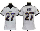 2012 newest youth American football jersey,Rice#27 Ravens youth Jersey, free shipping+paypal