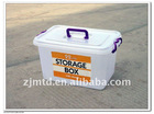 22L PP Storage Box with Handles & Wheels