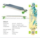hot sale colorful chinese maple double kick skateboard NEW longboard Land slide ODL01
