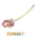Flower Hair Stick Designer orchid flower hair accessory