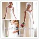 2013 Empire Chiffon wedding dresses for pregnant women