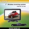 """wireless backup system-7"""" wireless backup system LCD monitor+CMOS Camera"""