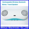 Portable Rechargeable Wireless Bluetooth Stereo Travel Speaker for iPhone 4 iPad OT019