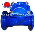 Ductile iron flanged ball check valve PN16