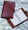 2012 New Design Real Leather Cover Notebook