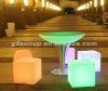 led lighting plastic outdoor furniture set for bar restaurant and garden