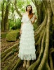 Forest Fairy Series Sweet White Lace Bridal Gown