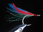 GT-V1TF--colorful feather fishing hook with crystal bright line